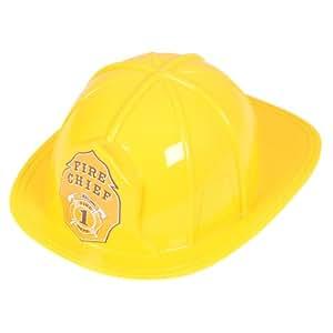 Fireman Helmet Hat Outfit accessory for Fire Brigade Fancy Dress