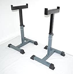Pair of Safety Stands H.D. Support Weight Shrug Trap Bar Spotter Racks