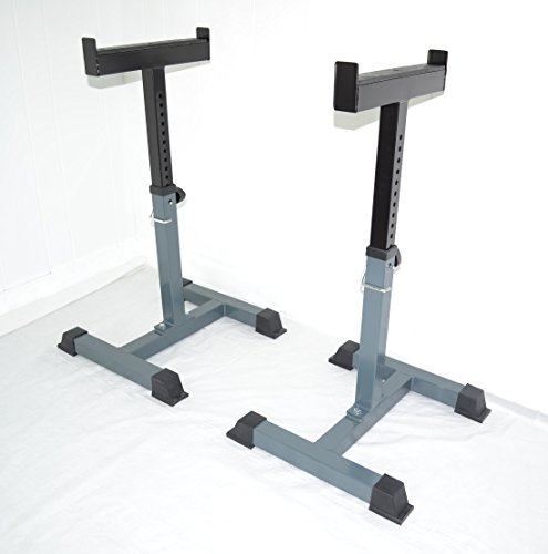 Pair of Safety Stands H.D. Support Weight Shrug Trap Bar Spotter Racks (Bench Press Safety Rack compare prices)