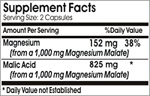 Malic Acid 825mg ~ 200 Capsules - No Additives ~ Naturetition Supplements