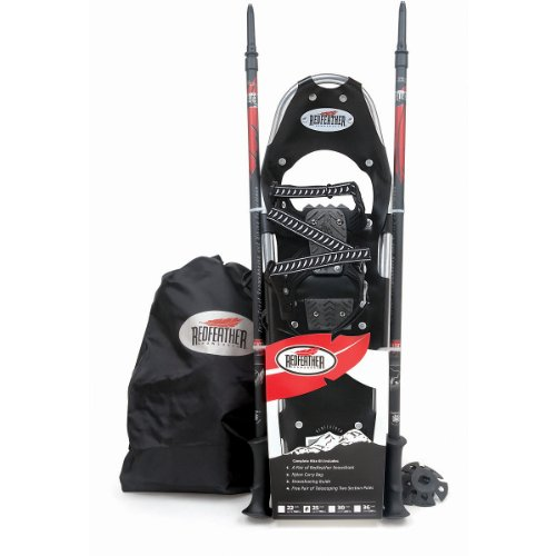 Redfeather 25 Hike Control Recreational Snowshoe Kit with Poles and Bag