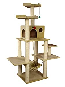 Armarkat A7202 72-Inch Cat Tree, Beige