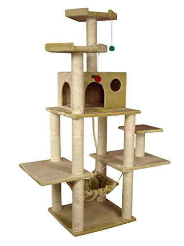 Cool cat tree plans cat condos for Cat tree plans