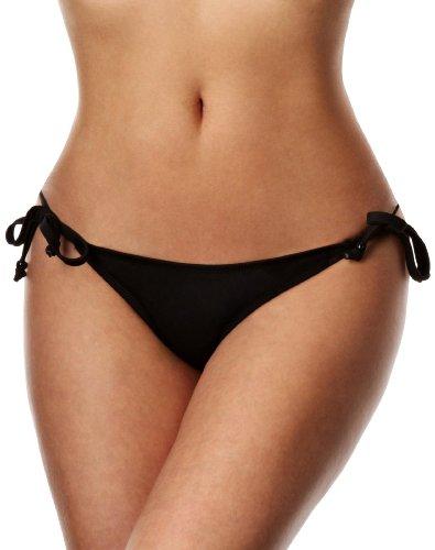 Marie Meili Black Swimwear Side Tie
