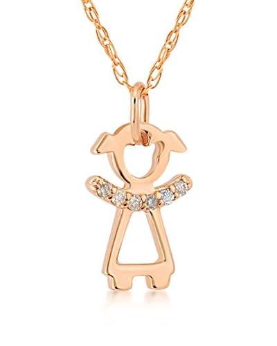 Divas Diamond Conjunto de cadena y colgante Diamond Gold Girl