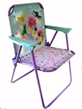 Disney Tinkerbell Flexible Metal Patio Chair - Tinkerbell Kids Patio Chair - Tinkerbell Kids Chair