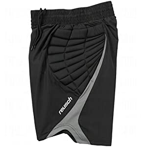 Reusch Adult Eldarion Goalkeeper Shorts, Black/Grey, Small