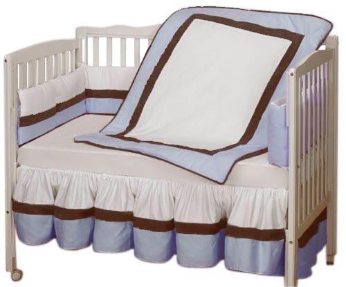 Baby Doll Bedding Classic Crib Bedding Set, Blue
