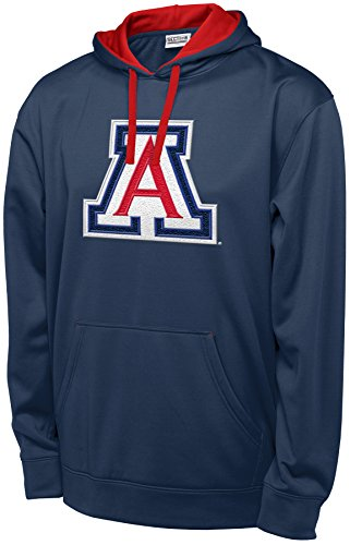 NCAA Arizona Wildcats Men's T-Formation 2 Long Sleeve Hooded