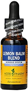 Herb Pharm Lemon Balm Blend Extract Nervous System Herbal Supplement, 1 Ounce