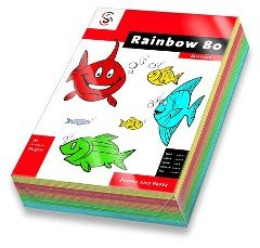 universel  Rainbow , format A4, mélange intensif, 80 g/m2, vierge, 100 feuilles dans les couleur...