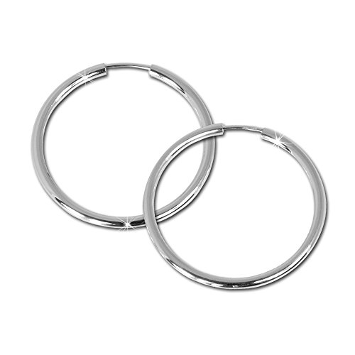 SilberDream-Creole-Simply-925-Sterling-Silber-40mm-Creolen-Ohrringe-SDO070