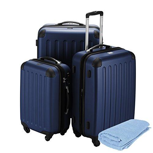 HAUPTSTADTKOFFER® Set di valigie · (49.0;82.0;128.0 liters) · TSA BLOCCO · più colori (Blu)