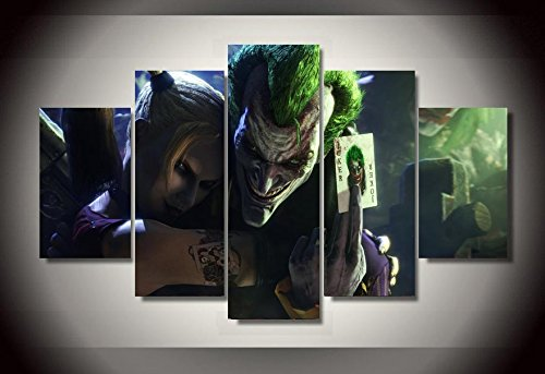 Canvas Wall Art Printed Joker And Harley Quinn Picture Painting Wall Art Room Decor Print Poster Picture Canvas Modular picture (Modular Arts Wall Panels compare prices)