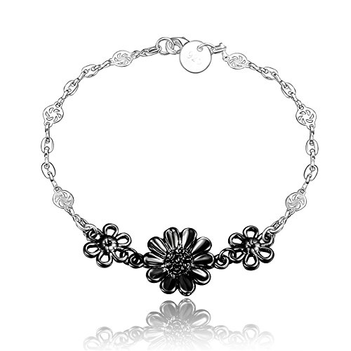 amberma-black-you-are-my-sunshine-beautiful-sunflower-charm-pendant-bracelet-sterling-silver-plated-