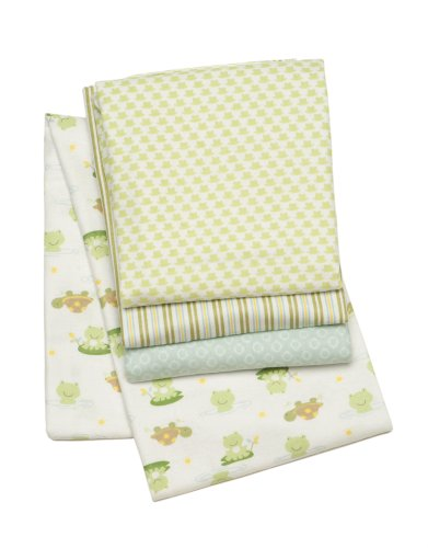 Carter's Receiving Blankets, Froggies, 4 Count (Discontinued by Manufacturer)