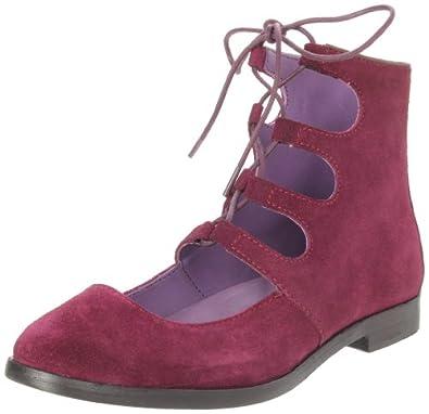 b289d93495c 清仓)暇步士Hush Puppies Women s Ghillie Boot安娜苏时尚系带靴棕 43.24