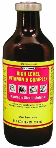 Durvet Inc D 02 Dfv2302 High Level Vitamin B Complex Yellow 250 Milliliter