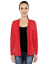 Threadz Women's Shrug (W-1078-Red-4XL, Red, 4XL)