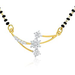 Mahi Gold Plated Mangalsutra Pendant with CZ for Women PS1191407G