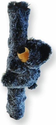 Puzzled Soft Plush Fuzzy Black Bear Car Safety Shoulder Seat Belt Cover - 1