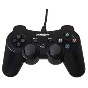 Manette filaire pour PS3 - noire