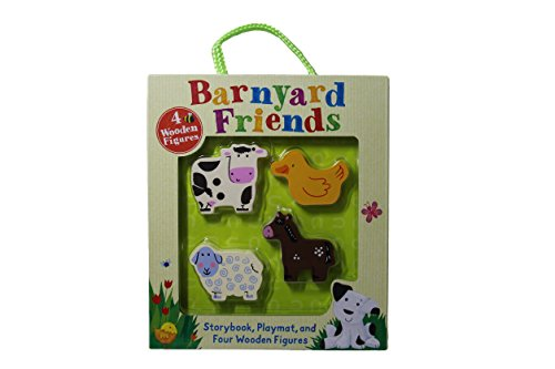 Barnyard Friends Storybook Playmat and Wooden Figures Set