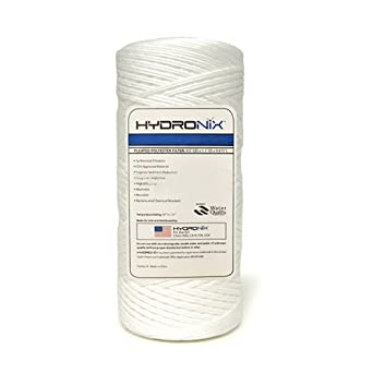 "Hydronix SWC-45-1001 String Wound Filter 4.5"" OD X 10"" Length, 1 Micron"