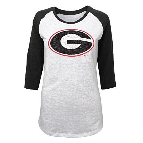 NCAA Juniors 0-17 Georgia Bulldogs 3/4 Scoop Raglan Tee , Large (11/13) (Youth Georgia Bulldog Shirts compare prices)