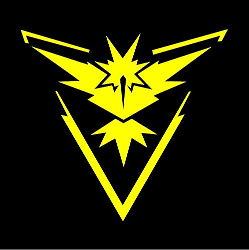 Team Instinct Pokemon GO - Yellow Vinyl Decal