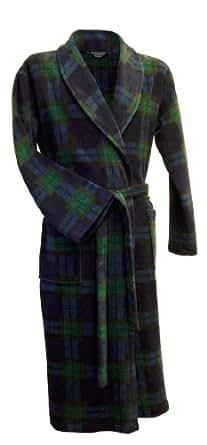 Robe de chambre ecossais en maille polaire en tartan Black Watch (M)