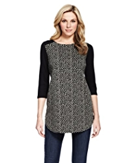 M&S Collection Animal Print Jacquard Ponte Tunic