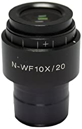 Swift Optical MA10590 Single WF10X Eyepiece with Adjustable Diopter, 20mm, For SM100 Series Stereo Microscopes