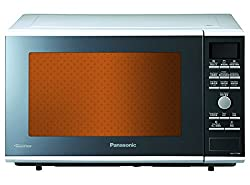 Panasonic NN-CF770M Stainless Steel 27-Litre Inverter Microwave Oven (Metallic Silver)