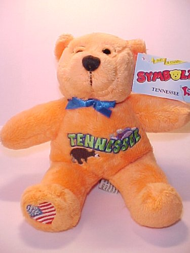 "Tennessee Bear - Soft & Cuddly Orange 8"" Bear - 1"