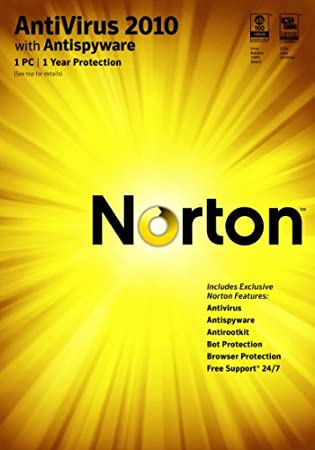 Norton Antivirus 2010 1 User / 1 PC  [Download] [OLD VERSION]