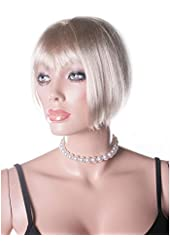 Faux Pearl Choker With Satin Ribbon Tie (White/Black;One Size)