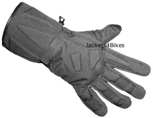 WATERPROOF MOTORCYCLE GLOVES COLD SNOWMOBILE BLACK XL