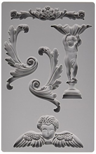 Prima Marketing 814816 Baroque No.5 Iron Orchid Designs Vintage Art Decor Mold, Grey (Vintage Irons compare prices)