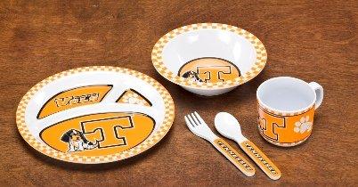 NCAA Tennessee Volunteers 5-Piece Kids' Dish Set - 1