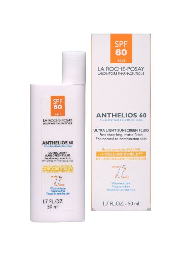 La Roche-Posay Anthelios 60 Ultra Light Sunscreen Fluid for Face, 1.7-Ounce Bottle