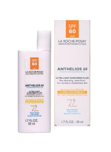 La Roche-Posay Anthelios 60 Ultra Light Sunscreen Fluid for Face, 1.7-Ounce Bottle