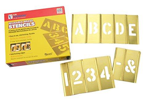 c-h-hanson-10073-kit-con-letras-y-numeros-para-estarcir-laton-76-cm-45-unidades