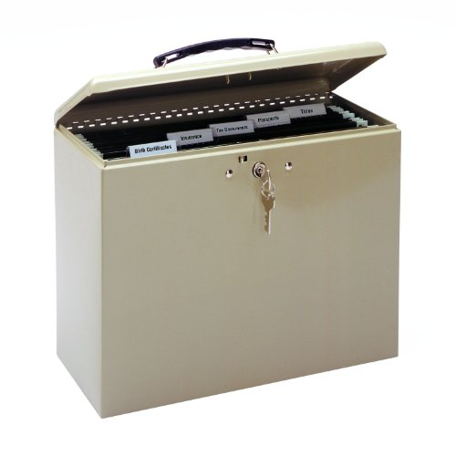 MMF Industries Steel Security File Box with Key Lock 227109003B00006ICA8