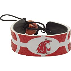 Aminco Washington State Cougars Team Color NCAA Gamewear Leather Basketball Bracelet
