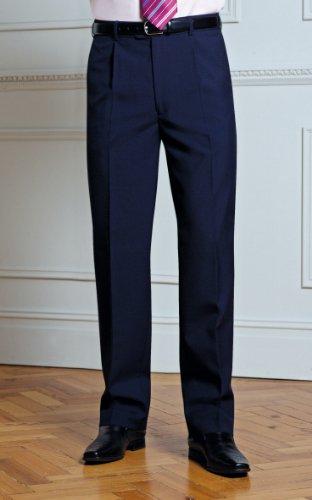 Men's Delta Single Pleat Trouser COLOUR Black SIZE 34R