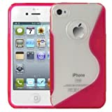 Logotrans Wave Series Coque silicone pour Apple iPhone 4 Rose (Import Allemagne)