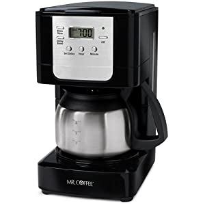 Mr. Coffee JWX9 5-Cup Programmable Coffeemaker, Black with Stainless Steel Carafe by Mr. Coffee