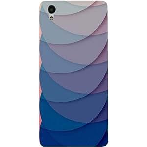 Casotec Waves Pattern Print Design 3D Hard Back Case Cover for Vivo Y51L