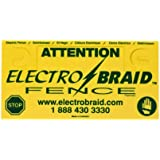 ElectroBraid 255477 Fence Warning Sign (Discontinued by Manufacturer)